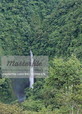San Fernando waterfall on Rui Lapaz, Vara Blanca, Heredia Province, Costa Rica, Central America
