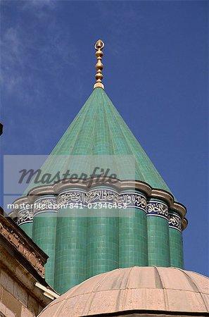The Mevlana Turbe, Konya, Anatolia, Turkey, Asia Minor, Eurasia