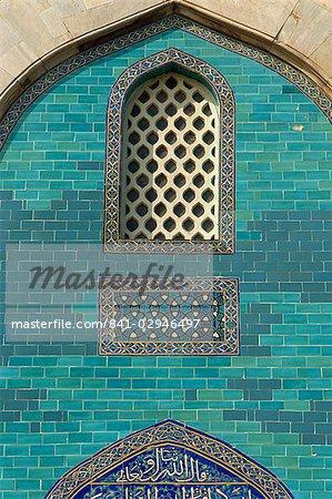 Tuiles sur le mausolée verte (Yesil Turbe), Bursa, Anatolie, Turquie, Asie mineure, Eurasie