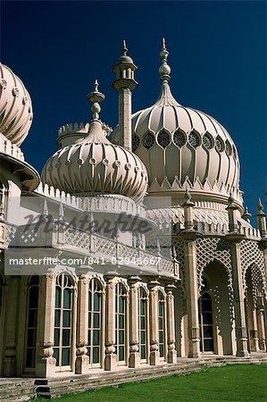 Pavillon Royal, construit par le Prince Régent, plus tard roi George IV, Brighton, Sussex, Angleterre, Royaume-Uni, Europe
