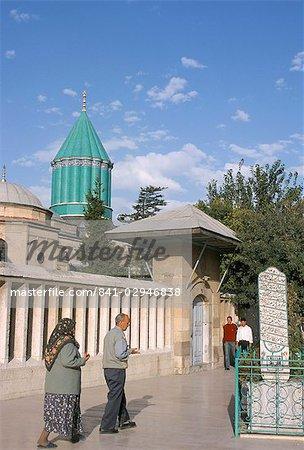 Musée de meylana (Mevlana), tombe de Rumi, Konya, Anatolie, Turquie, Asie mineure, Asie