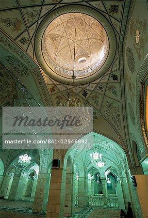 Intérieure, Sayyida Ruqayya mosquée, Damas, Syrie, Moyen-Orient