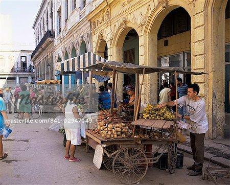 Rue du marché, la Vieille Havane, la Havane, Cuba, Antilles, Amérique centrale