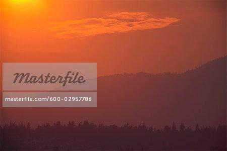 Sunset, Fraser Valley, British Columbia, Canada