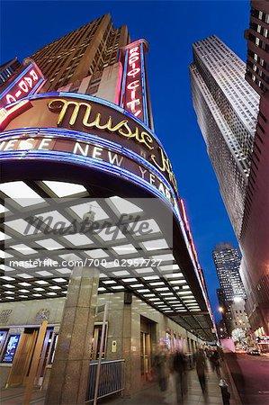 Radio City Music Hall, GE Building, Rockefeller Center, Manhattan, New York, New York, USA