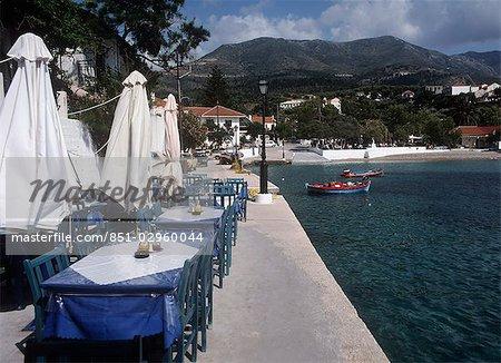 Tableaux de bord de mer, Assos, Céphalonie, Grèce