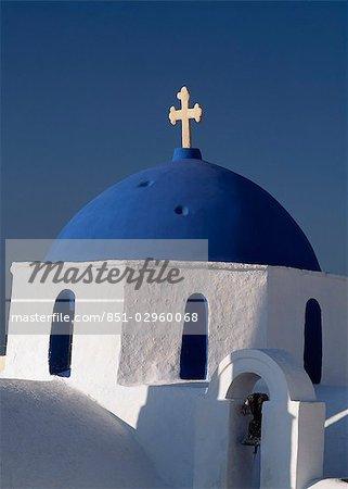 Église, Cyclades, Grèce. Paros, Naoussa