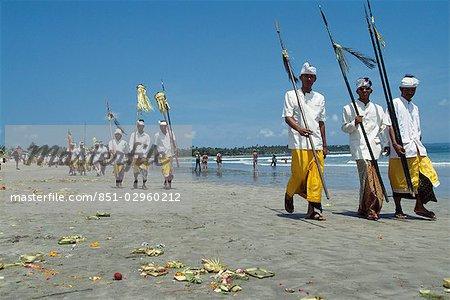 Procession balinais nouvel an (Nyepi), Bali, Indonésie.