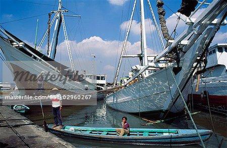 Schooner Bugis Makassar, Java, Indonésie