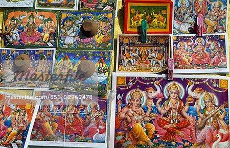 Dieux hindous pour la fête de Diwali, Jaipur, Rajasthan, Inde.