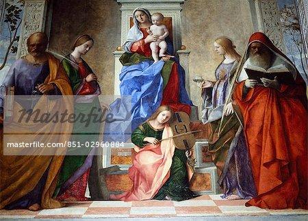Bellini's Madonna and child,Church San Zaccaria,Venice,Italy