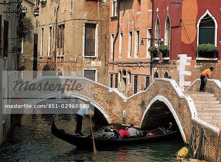 Gondola on canal,Venice,Italy