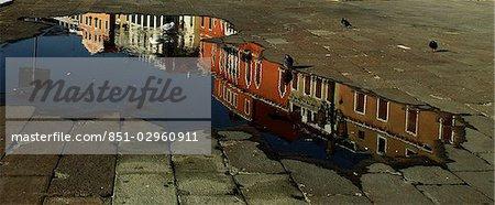 Venice,Italy. Colourful reflections along the Riva degli Schiavoni