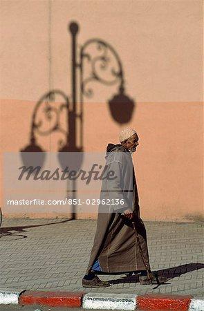 Man walking,Marrakesh,Morocco