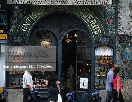 Bakers on La Rambla,Barcelona,Spain