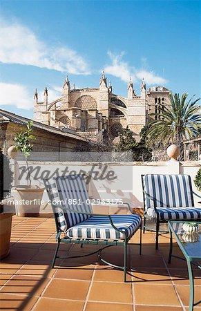 Cathedral from roof of Ca Sa Palacio Galesa,Palma,Majorca.