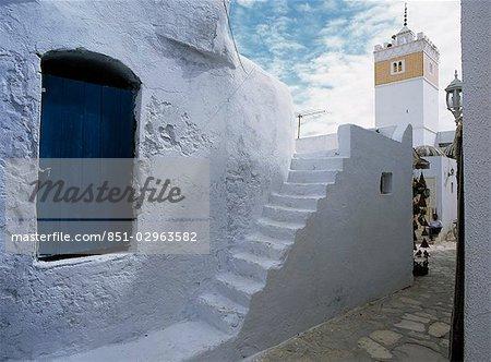 Bâtiment bleu, Hammamet, Tunisie