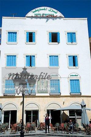 Main square at entrance of the medina,Tunis,Tunisia,North Africa