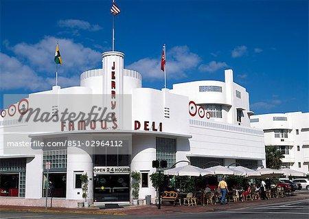 Célèbre Jerrys Deli, South Beach, Miami, Floride, USA