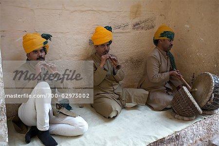 Musicians, Mehrangarh Fort, Jodhpur, Rajasthan, India