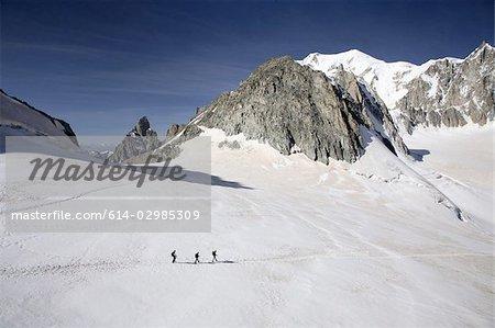 Les randonneurs en français des Alpes