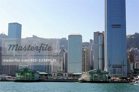 Central Pier & Central skyline, Hong Kong