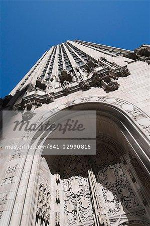 Tribune Building, Magnificent Mile, Chicago, Illinois, États-Unis d'Amérique, North America