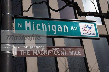 Plaques de rue, Chicago, Illinois, États-Unis d'Amérique, l'Amérique du Nord