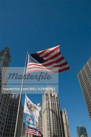 La Tribune Tower Building, Chicago, Illinois, États-Unis d'Amérique