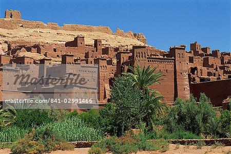 Ait Benhaddou, Ksour avec nombreuses Kasbahs, patrimoine mondial UNESCO, près de Ouarzazate, au Maroc, en Afrique du Nord, Afrique