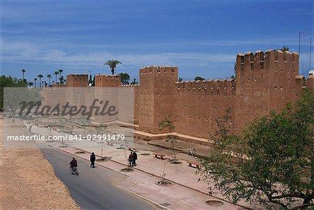 Remparts de la ville de Taroudant, Maroc, Afrique du Nord, Afrique