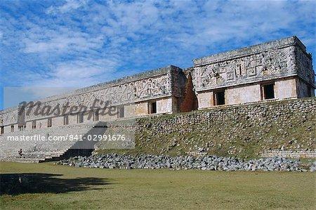 Palais du gouverneur sur le site maya de Uxmal, Yucatan, Mexique Amerique centrale