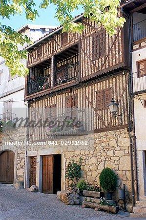 The hill village of Cristobal, near Salamanca, Castile, Spain, Europe
