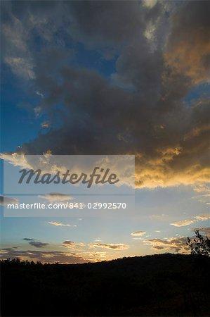 Sunset at Hacienda Guachipelin,near Rincon de la Vieja National Park, Guanacaste, Costa Rica, Central America