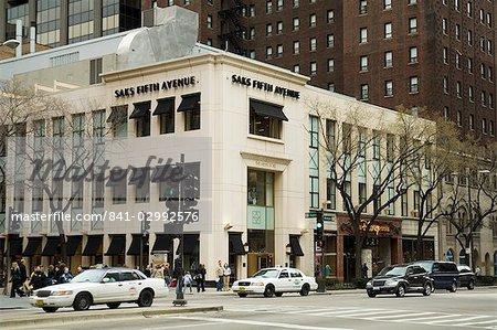 Saks Fifth Avenue Michigan Street ou du Magnificent Mile, Chicago, Illinois, États-Unis d'Amérique, l'Amérique du Nord