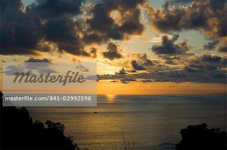 Sunset over Pacific near Manuel Antonio, Costa Rica, Central America
