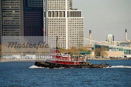 Tirez sur la rivière Hudson, Manhattan, New York City, New York, États-Unis d'Amérique, Amérique du Nord