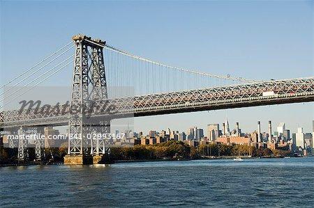 Manhattan Bridge, New York City, New York, États-Unis d'Amérique, l'Amérique du Nord
