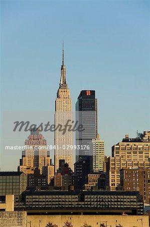 Empire State Building, milieu ville Manhattan, New York City, New York, États-Unis d'Amérique, l'Amérique du Nord