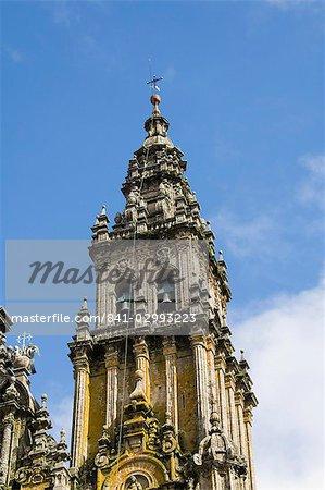 Cathédrale de Santiago, patrimoine mondial UNESCO, Saint Jacques de Compostelle, Galice, Espagne, Europe