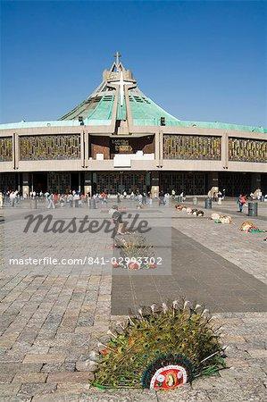 Basilica de Guadalupe, a famous pilgrimage centre, Mexico City, Mexico, North America