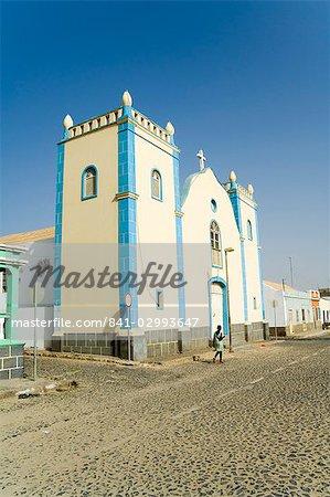 Église sur la place principale, Sal Rei, Boa Vista, Cap-vert, Afrique