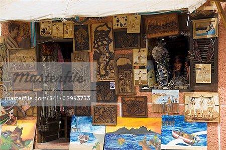 Local art, Santa Maria, Sal (Salt), Cape Verde Islands, Africa