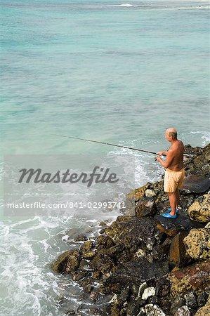 Pêche, Santa Maria, sur l'île de Sal (sel), Cap vert, Afrique