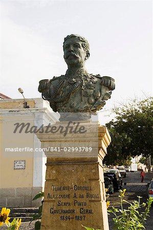 Buste de l'ancien gouverneur général, Sao Filipe, Fogo (feu), Cap vert, Afrique
