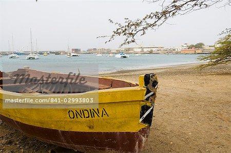 Le port de Palmeira, Sal (sel), Cap-Vert, Atlantique, Afrique