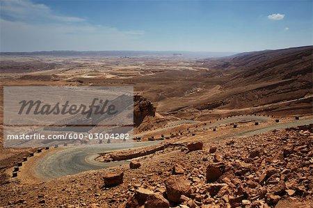 Chemin dans le désert du Néguev, Israël