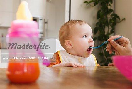Parent Feeding Baby