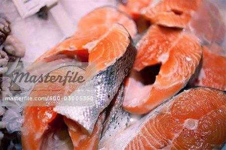 Salmon at Fish Market