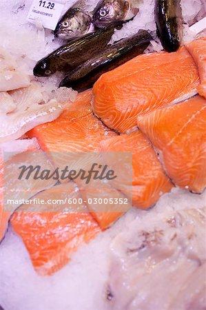 Close-up of Fish at Market